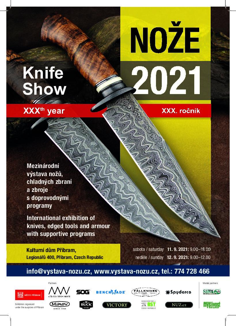 Pozvánka na výstavu Nože 2021 v Příbrami